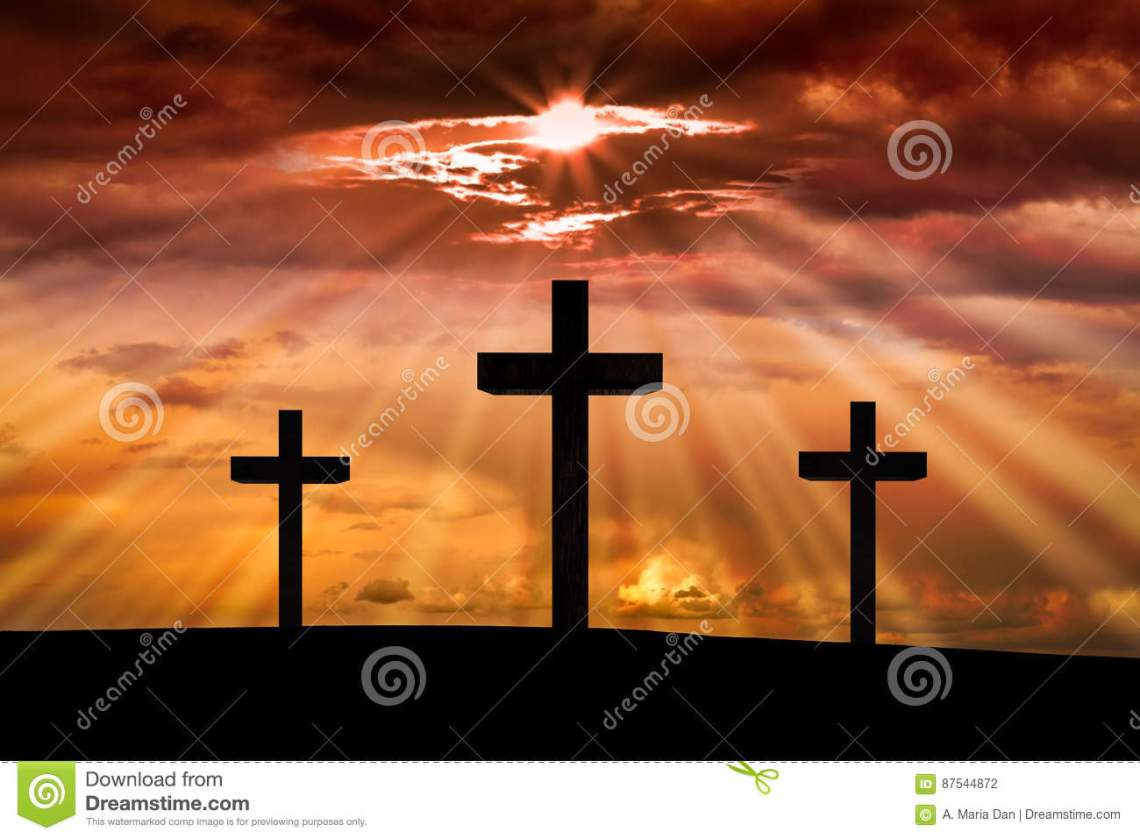 jesus-christ-cross-easter-good-friday-concept-background-dramatic-sky-lighting-colorful-red-orange-sunset-dark-clouds-87544872